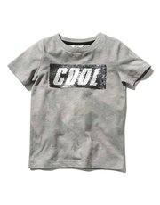 Two way sequin camouflage t-shirt