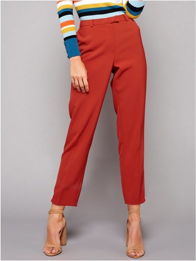 Petite tapered trousers