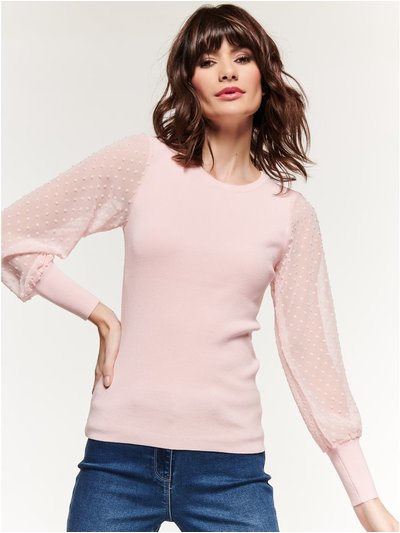 Dobby sleeve top