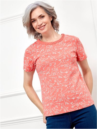 Spirit dog print top