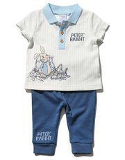 Peter Rabbit polo shirt and joggers set