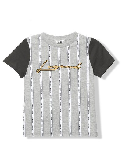 Legend slogan stripe t-shirt (3-12yrs)
