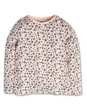 Heart animal print top (3-12yrs)