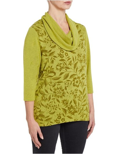 TIGI floral cowl neck top