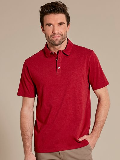 Plain short sleeve polo shirt