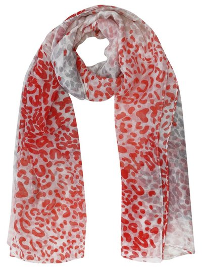 Animal print lightweight scarf