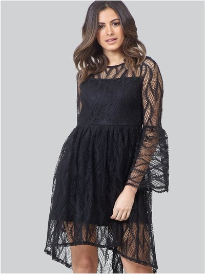 Izabel sheer lace skater dress