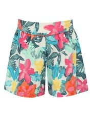 Tropical flower print shorts