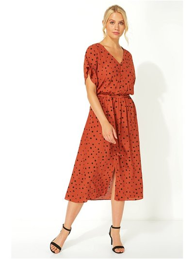 Roman Originals polka dot midi tea dress