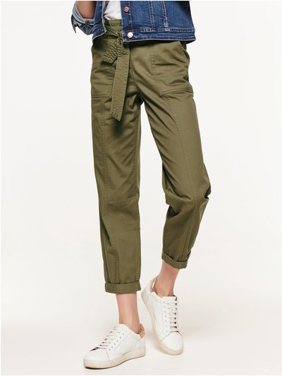 Cargo paperbag trousers