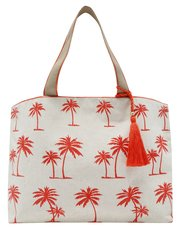 Palm print canvas bag