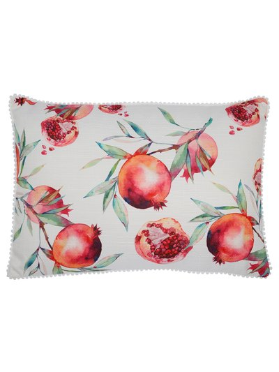 Pomegranate print cushion