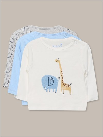 Animal t-shirts three pack (Newborn-18mths)