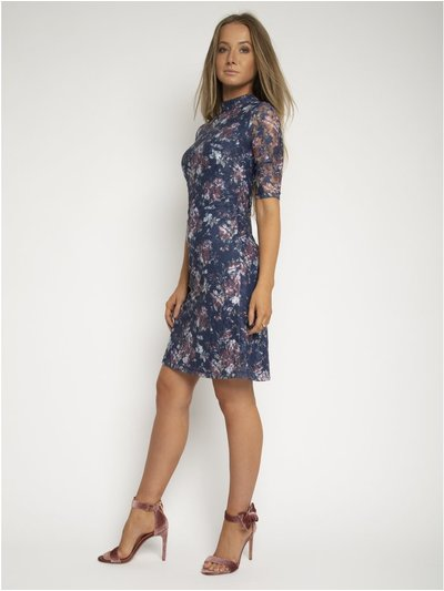 StylistPick lace high neck shift dress