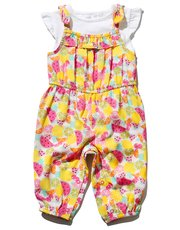 Fruit print playsuit and top set