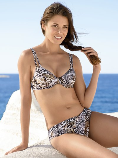 Naturana underwired animal print bikini set