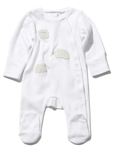 Sheep print sleepsuit (Tiny baby - 9 mths)