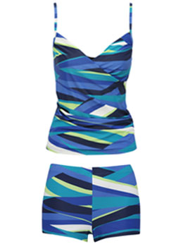 Stripe Tankini Set