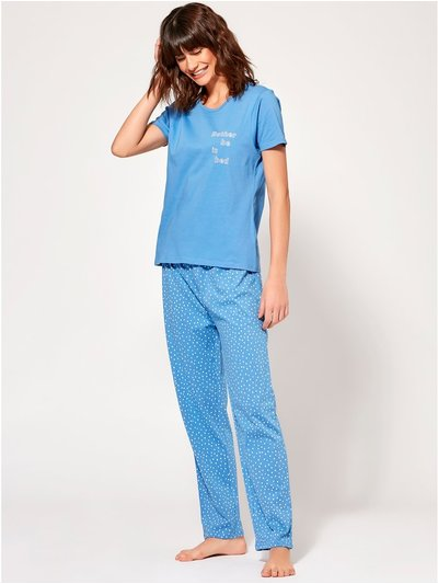 Rather be in bed slogan pyjamas