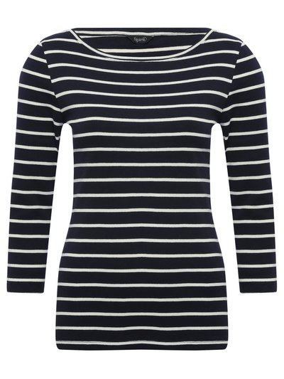 Spirit navy striped top