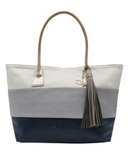Pia Rossini Colour Block Raffia Shopper Bag