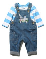 Truck dungarees and top set