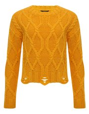 Teens' cable knit jumper