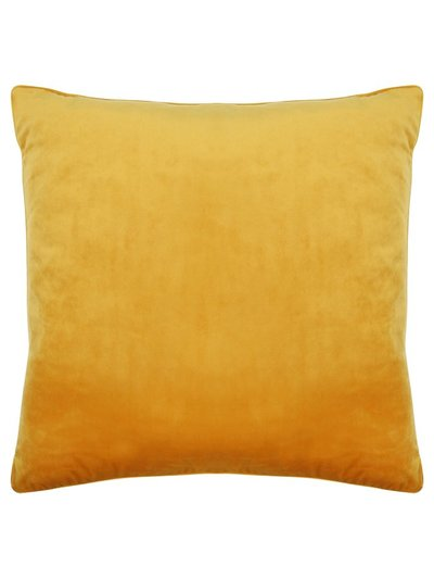 Gold velour cushion