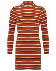 Teen striped high neck dress