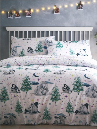 Brushed cotton winter animal print duvet set