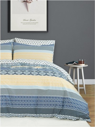 Stripe print duvet set