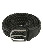 Black woven stretch belt