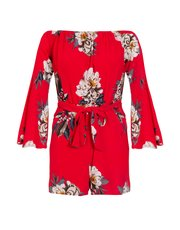 Quiz crepe floral playsuit