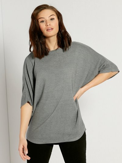 LV CLothing glitter knit batwing jumper
