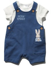 Peter Rabbit bibshort and top set