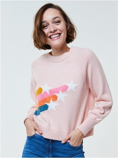 Blouson sleeve star jumper