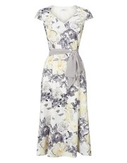 Jacques Vert printed soft wrap dress