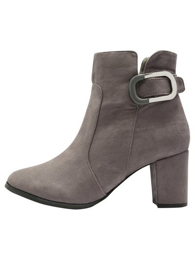Amosha open zip detail ankle boot
