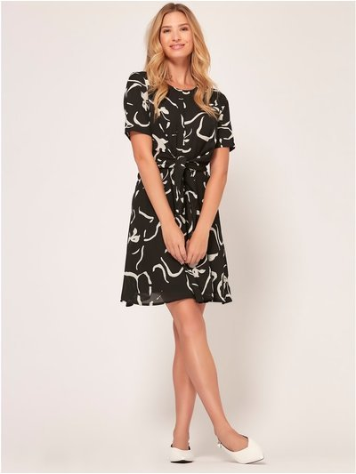 Vero Moda tie front skater dress