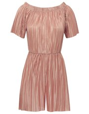 Pleated bardot playsuit