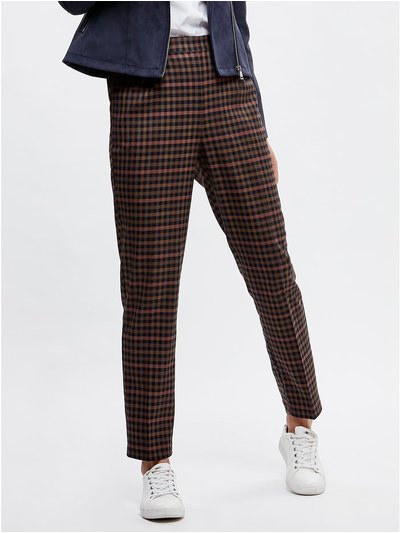 Checked trousers