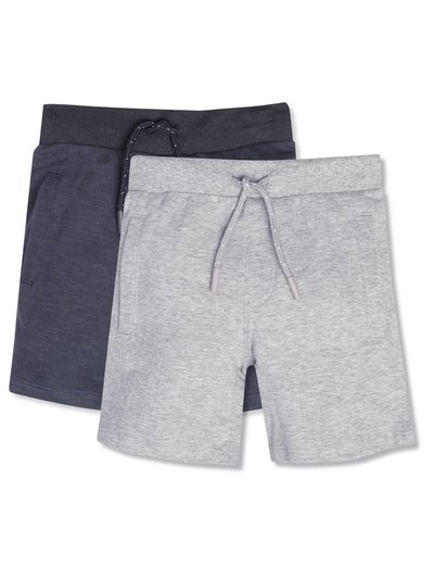 Plain shorts 2 pack (3-12yrs)