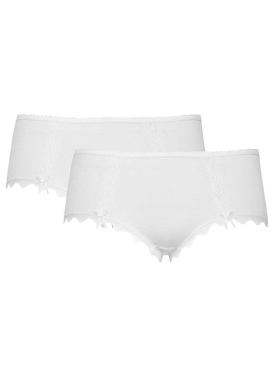 Lace midi briefs two pack