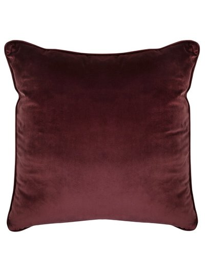 Purple velour cushion