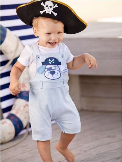 Pirate pup top and bibshort set (Newborn - 18 mths)