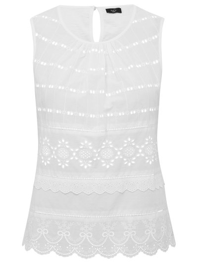 Petite broderie anglaise sleeveless top