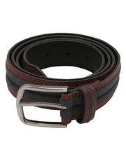 Contrast stitched stripe belt