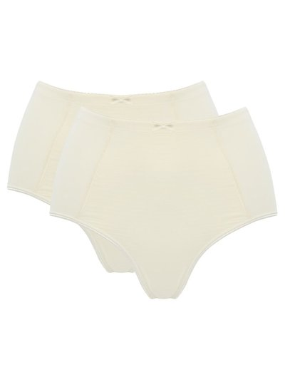 Spot front high waist light control briefs two pack