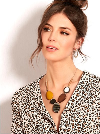 Muse colour block necklace