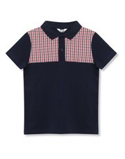 Houndstooth polo shirt (9mths-5yrs)